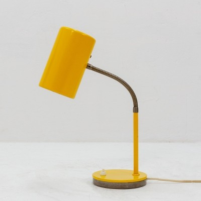 Yellow metal desk lamp