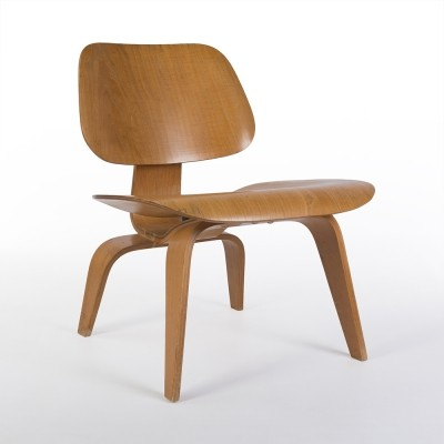 Original Evans Birch Eames LCW Moulded Plywood Lounge Chair