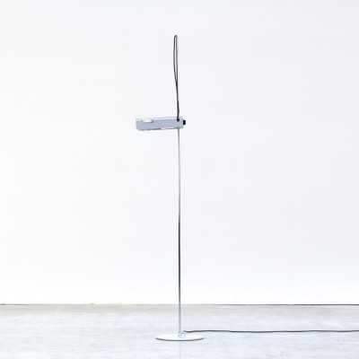 Joe Colombo grey 'spider' floorlamp for Oluce, 1960s