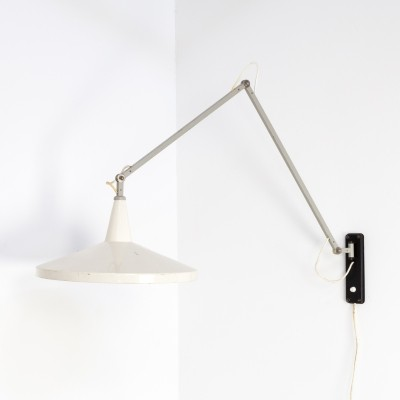Wim Rietveld Panama model 4050 wall lamp for Gispen, 1950s