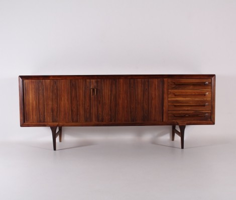 Rosewood tambour sideboard by Ib Kofod Larsen for Faarup