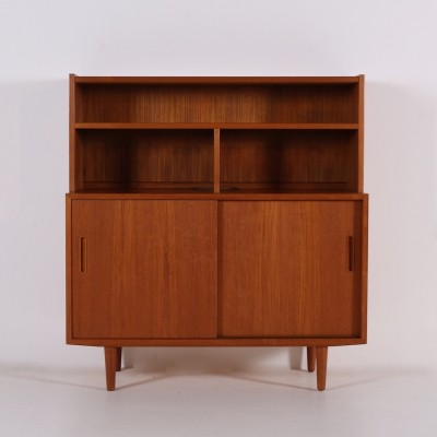 Carlo Jensen teak small highboard for Poul Hundevad