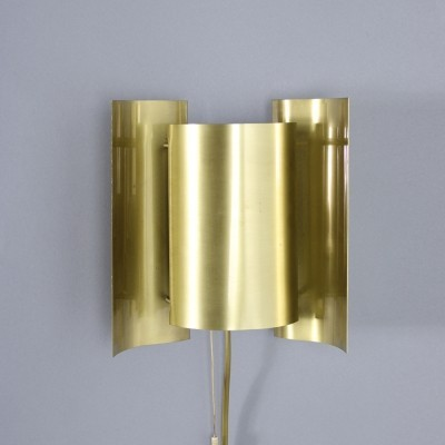 Vintage brass wall lamp by Falkenbergs Belysning Sweden