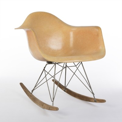 Salmon 1st Generation Zenith Original Vintage Eames RAR Rocking Arm Chair