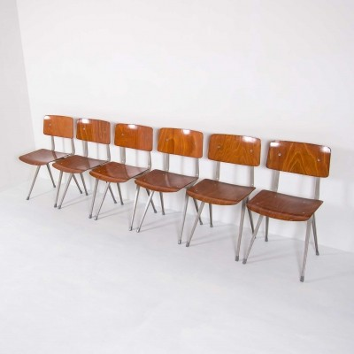 6 x Result dinner chair by Friso Kramer for Ahrend de Cirkel, 1960s