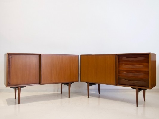 Pair of teak credenzas by Amma, Italy