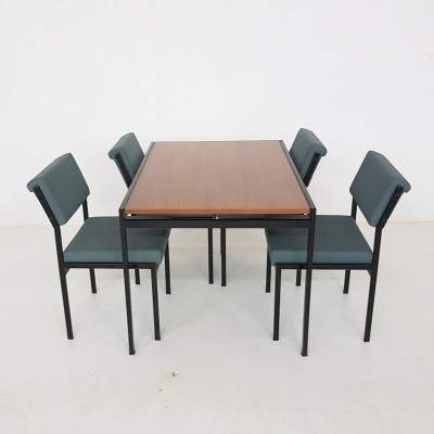 TU30 + SM07 dining set by Cees Braakman for Pastoe, 1950s