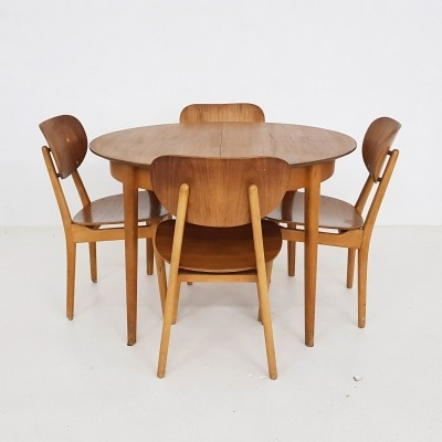 TB35 + SB11 dining set by Cees Braakman for Pastoe, 1960s
