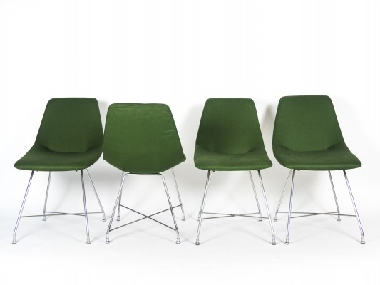 Set of 4 'Aster' chairs by Augusto Bozzi for Saporiti, 1954