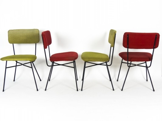 4 Elettra Chairs by Studio BBPR for Arflex, 1950s