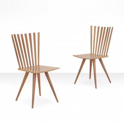 Pair of 'Mikado' chairs by Johannes Foersom & Peter Hiort-Lorenzen, 1990s