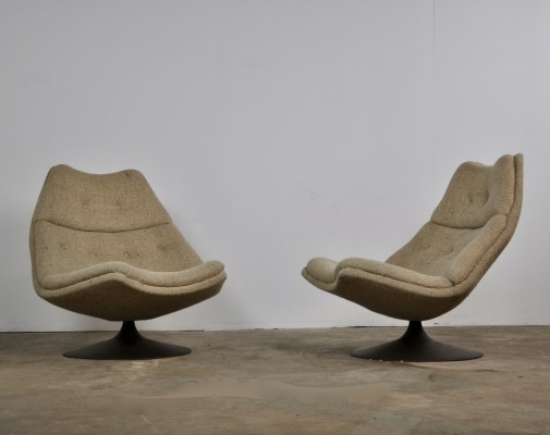 Pair of F590 Lounge Chairs by Geoffrey Harcourt for Artifort, 1960s
