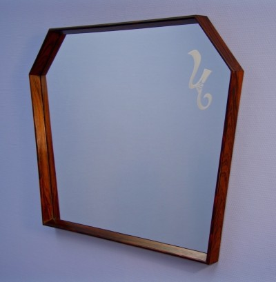 Danish mirror in rosewood, 1960s