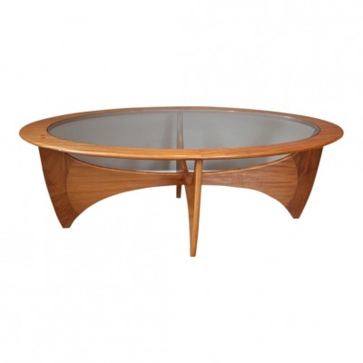 Oval vintage teak coffee table by VB Wilkins for G-PLAN, 1960s