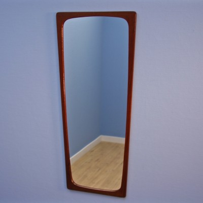 Danish tapered mirror in teak by Aksel Kjersgaard, 1960s