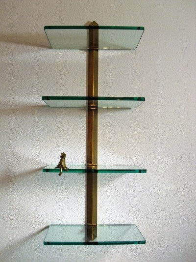 Peter Ghyczy Shelving System in Brass, 1980's