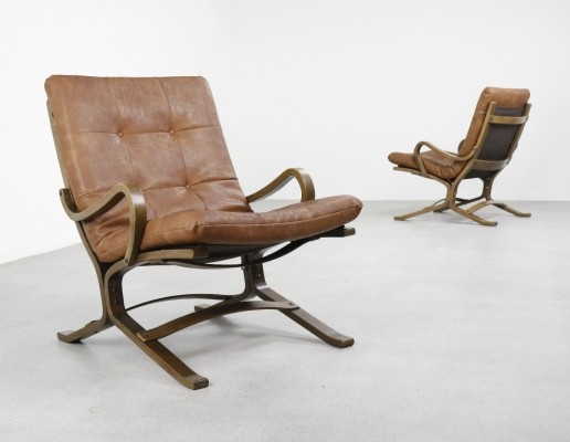 2 x Early Siesta lounge chair by Ingmar Relling for Westnofa, 1960s