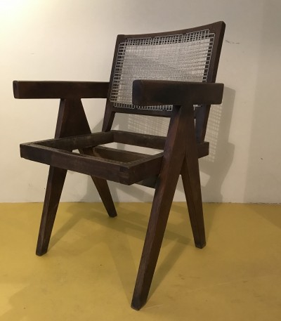 4 x Chandigarh arm chair by Pierre Jeanneret, 1950s