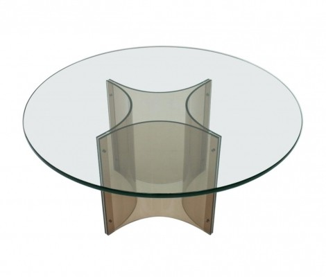 Lucite & Glass Coffee Table, 1960s