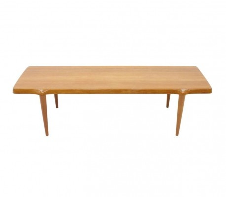 Solid Teak Wood Coffee Table by John Bone for Mikael Laursen, Denmark 1960s
