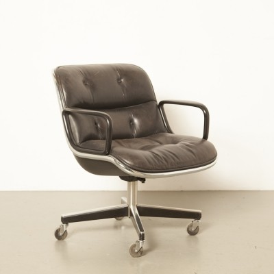 8 x Executive arm chair by Charles Pollock for Knoll International, 1960s