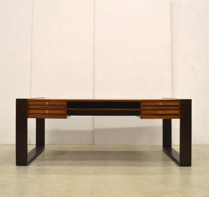Large Rosewood Executive Writing Desk, Denmark 1970s