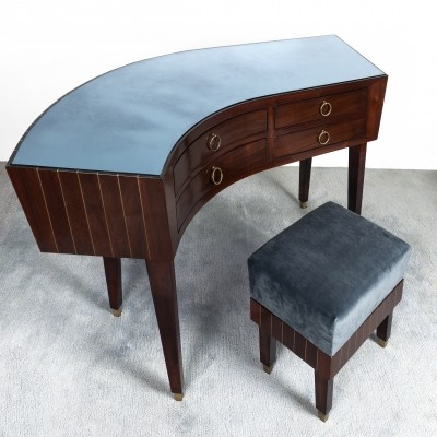 Gianni Vigorelli writing desk with stool