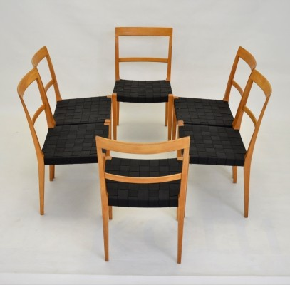 Set of 6 Bruno Mathsson 'Mimat Mi 401' Dining Chairs