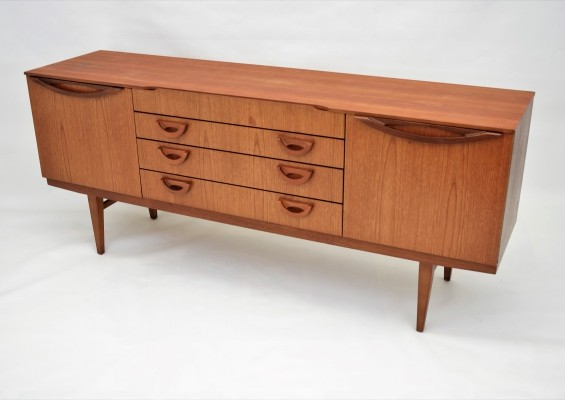 Sideboard with wooden details, 1960s