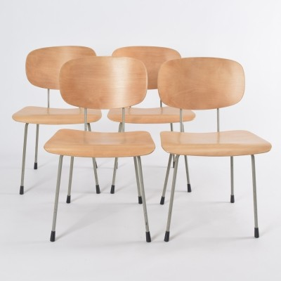 Set of 4 model 116 dinner chairs by Wim Rietveld for Gispen, 1950s