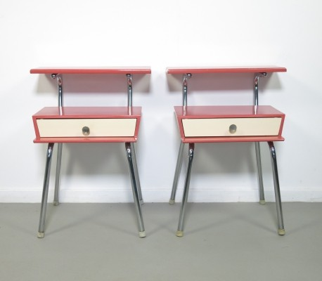 Set of 2 night-stands by Wim Rietveld