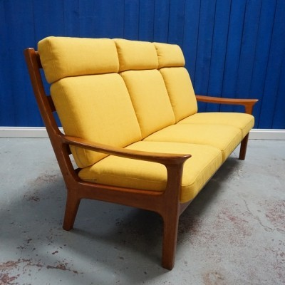 Three Seat Sofa in Teak by Juul Kristensen for Glostrup Furniture, 1960s
