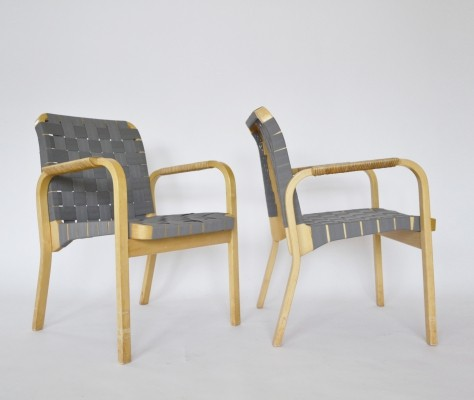 Pair of Vintage Armchairs by Alvar Aalto for Artek, 1970s