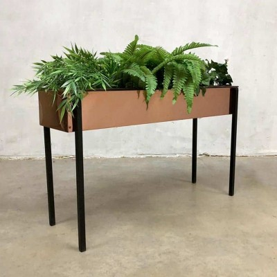 Vintage design copper plant stand, 1960s