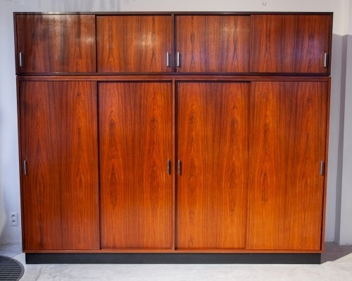 Handcrafted walnut wardrobe by Alfred Hendrickx for Belform