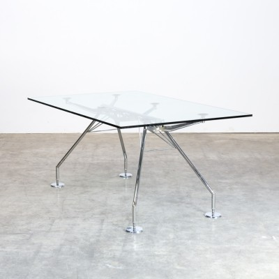 80s Norman Foster 'Nomos' dining table for Tecno