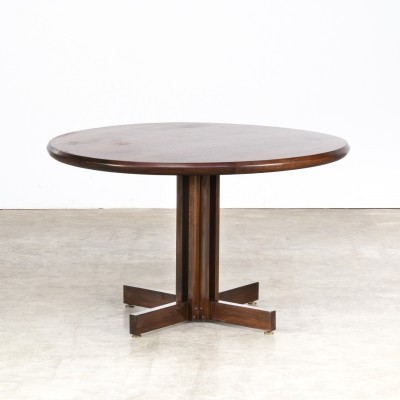 80s Rosewood round dining table