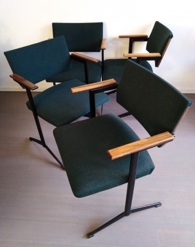 Set of 4 arm chairs by Friso Kramer for Auping, 1960s