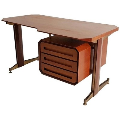 Midcentury Italian Teak Writing Desk