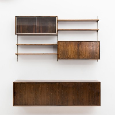 Wall unit in rosewood, The Netherlands 1960s