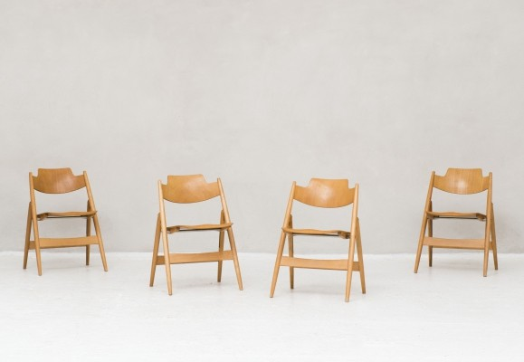 Set of 4 Foldable 'SE 18' dining chairs by Egon Eiermann, 1952