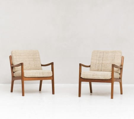 Set of 2 'model 166 Senator series' easy chairs by Ole Wanscher, 1950s