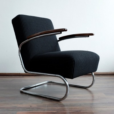 S 411 arm chair by W. Gispen for Mücke Melder, 1930s