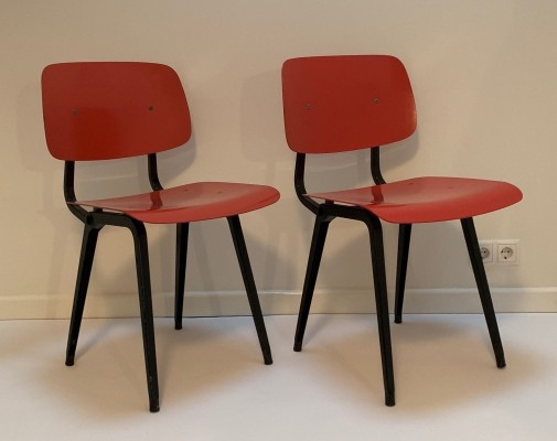 Set of 4 Revolt dinner chairs by Friso Kramer for Ahrend de Cirkel, 1960s