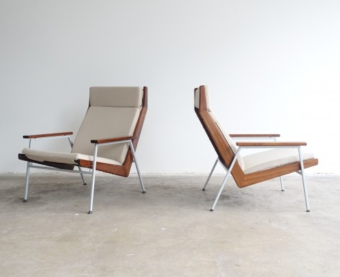 Pair of model 1611 arm chairs by Rob Parry for Gelderland, 1950s