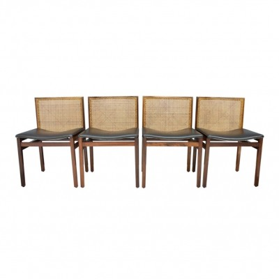 Tito Agnoli Dining Room Chairs, Italy 1960s