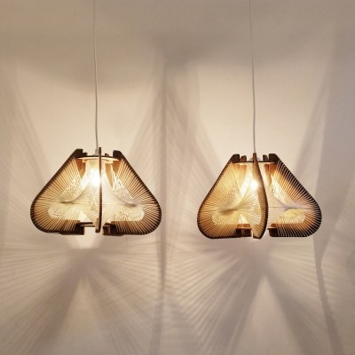 Pair of vintage hanging lamps, 1960s