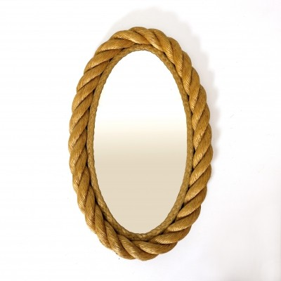 Oval shaped rope mirror from the fifties