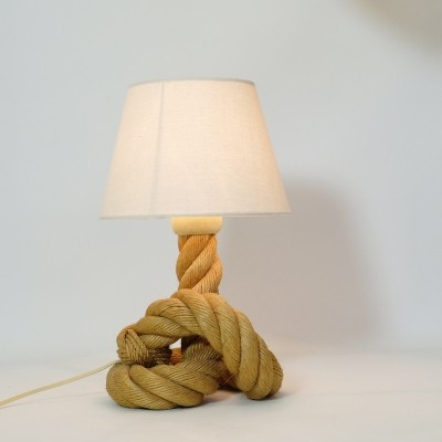 French rope table lamp, 1940-1950