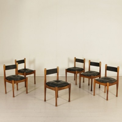 Set of 6 Chairs by Silvio Coppola, 1960s
